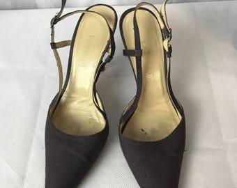 Stunning L.K.B Black Pump Kitten Heels