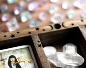 Triple Moon Starry Three Compartment Tarot, Rune or Crystal Display Box