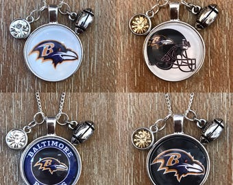 Baltimore Ravens Football Inspired Fan Charm Necklace