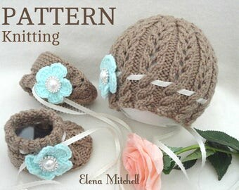 Knitting Pattern For Baby Girl Shoes : Knitting PATTERN Baby Booties Baby Shoes Patterns Knit Baby