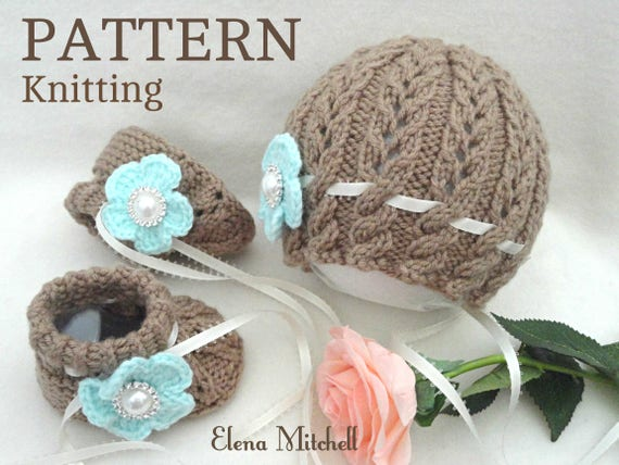 Easy Knitting Pattern Hat : Knitting PATTERN Baby Booties Baby Shoes Patterns Knit Baby