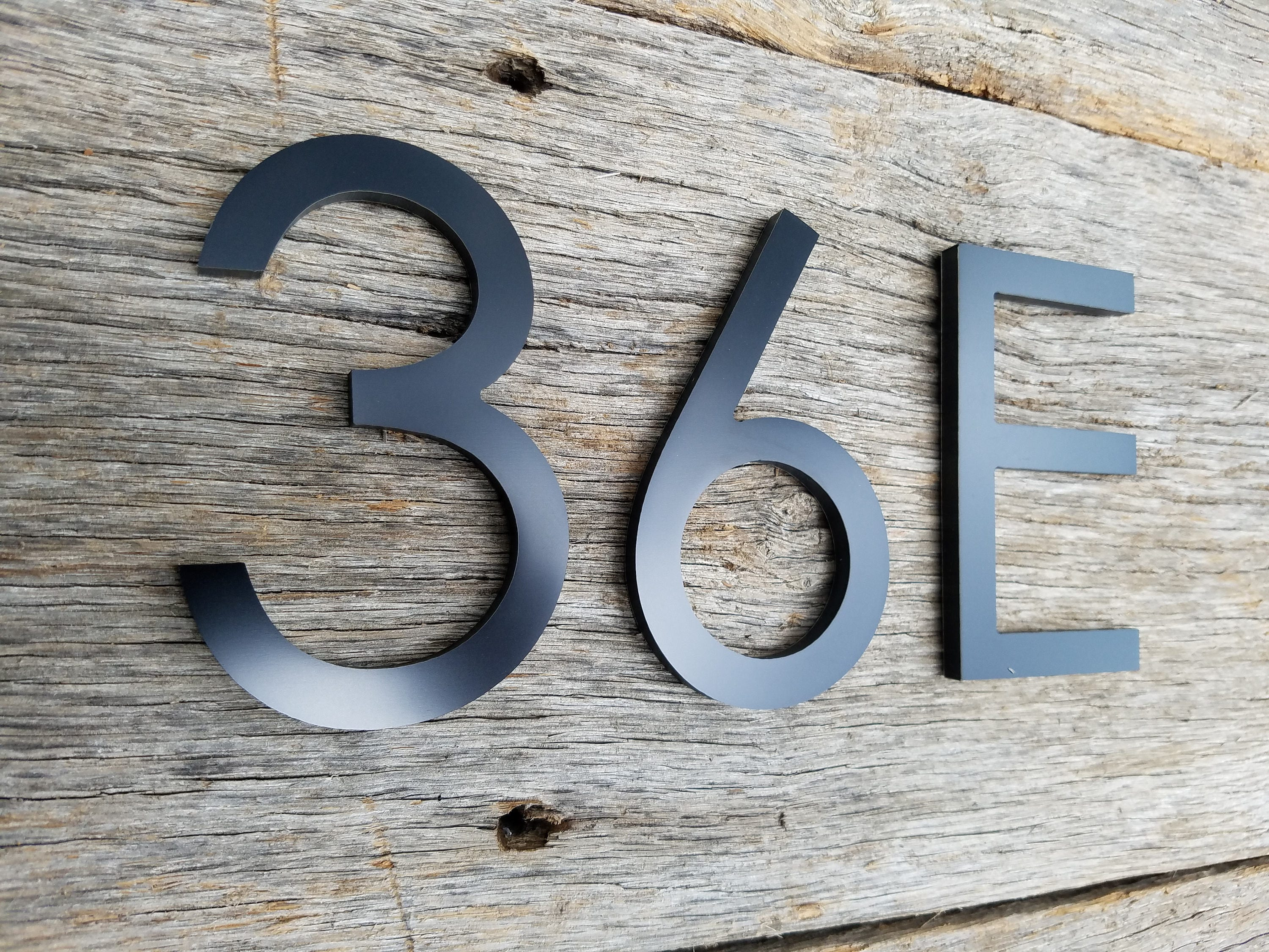 4 39 39 modern house numbers letters brushed aluminum stud for Minimalist house numbers