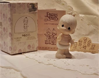 Precious Moments Last Forever Baby Figurine by Jonathan & David, Made in Taiwan Enesco Corporation presented by Donellensvintage
