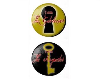 "Ghostbusters Keymaster/Gatekeeper 2.25"" Button or Magnet"