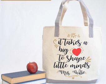 Teacher tote bag| Personalized Teacher Tote Bag |Kindergarten teacher tote|Preschool teacher gift| Teacher appreciation gift |Teacher gift