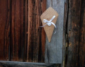 Cones for jute confetti, confetti cones, wedding favors, wedding decoration, rustic decoration, Country decoration