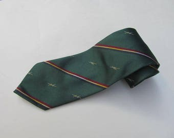 Vintage Regimental Club Tie / Pure Silk Tie Made in Italy