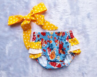 Baby Girl bloomers set, baby diaper Cover,baby nappy cover,baby girl vintage inspired bloomer,bloomer  piece set, so adorable...