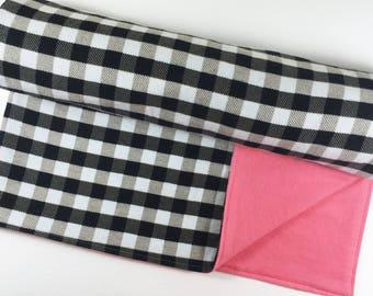 Baby Girl Blanket Baby Shower Gift for Baby Girl Pink Nursery Bedding Pink Baby Blanket Baby Girl Nursery Blanket Buffalo Plaid Baby Blanket