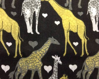 One, Half Yard of Fabric Material - Love Those Giraffes