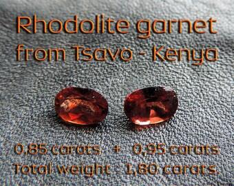 Rhodolite garnets: 1.80 carats. #ROD2.