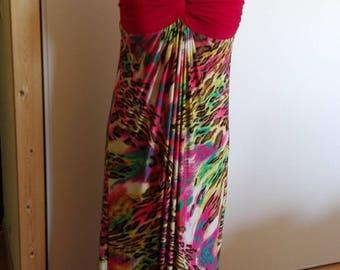 Summer evening dress backless, Fuchsia