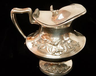 ART NOUVEAU Cream Pitcher Forbes Silver Plate