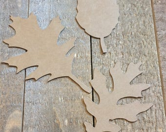 Leaves For Scrapbooking or Cardmaking / Leaf Die Cut / Fall Leaves / Pick Your Color / 5 Sets