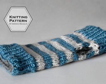 Knitting Pattern | Fingerless Gloves Reversible Chunky Texting Gloves Knitting Pattern | DUAL