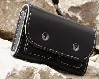 PANTHER Pocket Nintendo 3DS XL Leather Case, organic leather, vegetable tanned leather in black for nintendo