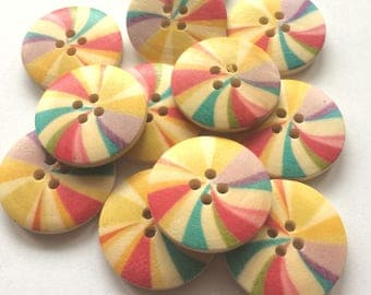 """""""Windmill"""" button size: 2, 4 cm for the customization"""