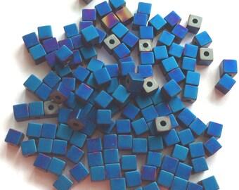 Cubic Pearl-tone blue matte