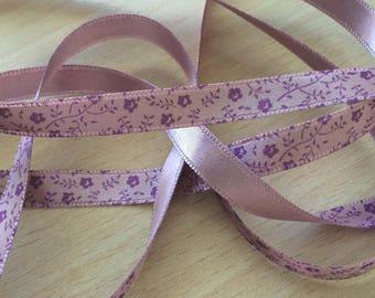pretty lilac pattern satin ribbon purple floral