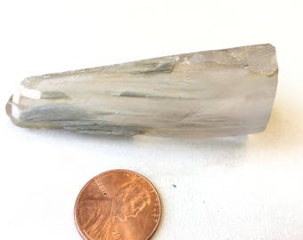 "Polished Amphibole Quartz Crystal Angel Phantom 2.5"" 18rf223B"
