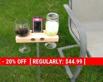 Holiday Sale 20% Off Wine Glass Holder, Smartphone Dock/Speaker. Works w/ most smartphones including iPhone 6s 6s+, galaxy s7.  The Wine