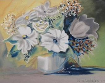 Tableau romantic pastel Bouquet flower arrangement