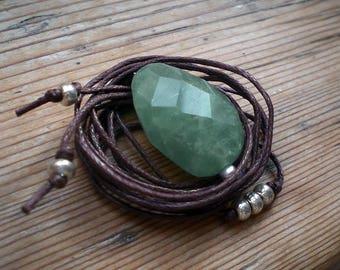 Aquamarine necklace, aquamarine pendant, aquamarine jewelry, hippie necklace