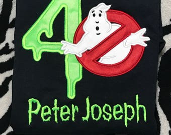 Personalized  Ghostbuster Birthday Shirt