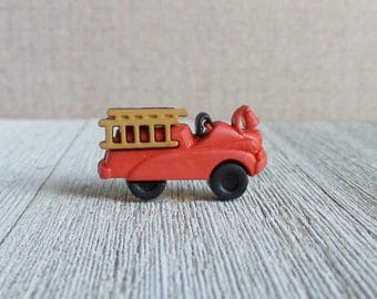 Old Fashioned Fire Truck - Vintage Fire Engine - Legacy - Fire Fighter - History - Lapel Pin