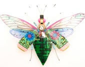 The Sweet Tea Flower Beetle, Circuit Board Insect by Julie Alice Chappell