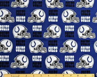 Colts etsy indianapolis colts fabric nfl football fabric in navy blue 58 wide by fabric traditions 100 voltagebd Gallery