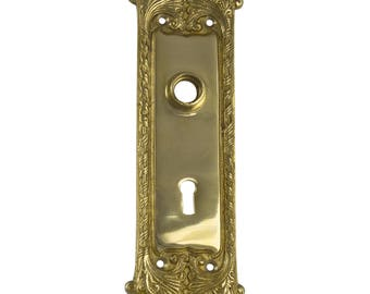 Classic Door BACK PLATE Hardware Brass Vintage Hardware Antique Replica