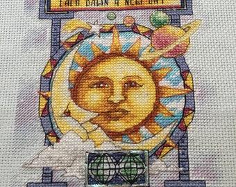 Sun/Moon/Stars Cross-stitch