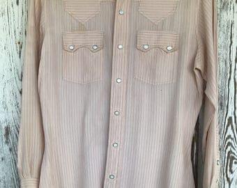 Vintage Pearl Snap Western Shirt