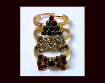 Christmas tree ring   Etsy