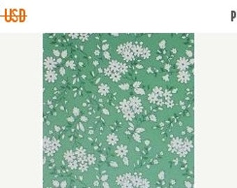 Summer Sale- Walk in the Park~White Flowers~ Cotton Fabric, by Maywoood Studio ,Fast Shipping, TT103