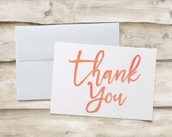 Birthday Thank You Cards, Thank You Note Cards, Folded Thank You Note Cards, Thank You Notecards, Folded Thank You Notecards, Birthday Thank
