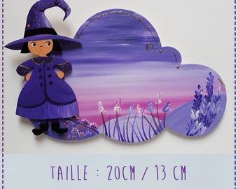 witch door red wooden personalize; https://www.alittlemarket.com/boutique/louisons_les_papillons-2673105.html