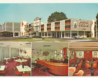 1960s Chrome Postcard-  Multi Views of Admiral Ben Bow Inn, Memphis, Shelby County, Tennessee, TN. ~ Free Shipping