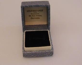 Vintage Jewellery Box Leslie Davey & West 20 High Street Oxford Presentation ring box Engagement Ring Box Ring Gift Box Ring Display Box