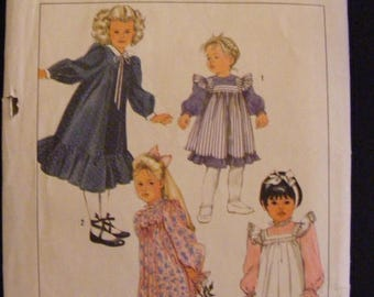 41% OFF Toddler Dress and Pinafore Ruffle Simplicity Sewing Pattern 7458 Size 3