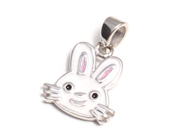 Bunny pendant in 925 sterling silver
