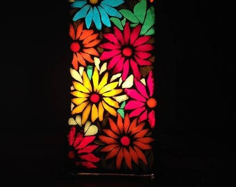 To order. GEB in association with Gaia. Mosaic stained glass lamp.