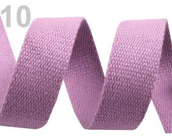 Cotton strap 30 purple 10 mm