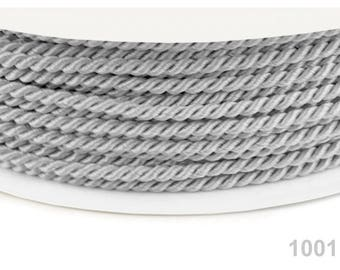 1001 gray - gray 2.8 mm twisted rope cord