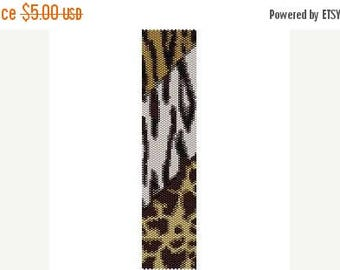 SALE HALF PRICE off Instant Download Beading Pattern Peyote Stitch Bracelet Safari Stripes Seed Bead Cuff