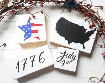 4th of July - Independence Day - Summer Decor - Mini Signs - Patriotic - America - 1776 - USA - Flag - US Flag - FREE shipping