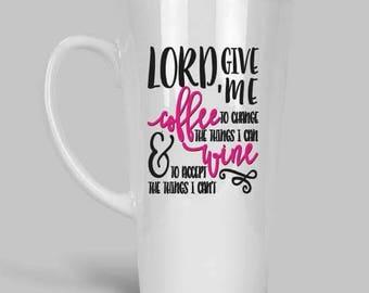 Funny Coffee Mugs, 17 oz Latte Mugs, Coffee Mugs, Give me coffee  and a whole lot of Jesus, Coffee Lover Mug, Coffee mugs with sayings, Mugs