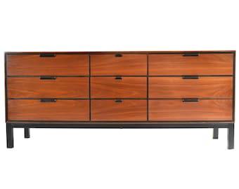 ON SALE   Mid Century Triple Dresser/Credenza By Stanley Distinctive    1960s VIntage Walnut