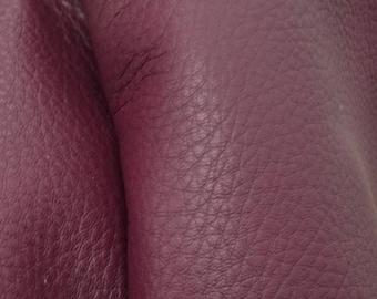 "Royal Plum Purple Leather New Zealand Deer Hide 12"" x 12"" Pre-cut 3-3 1/2 ounces -11 DE-66111 (Sec. 6,Shelf 6,B)"